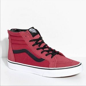 VANS SK8-HI Tibetan Red Zippered Skate Shoes 3